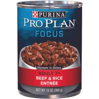 Purina Pro Plan Focus Adult 7+ Beef & Rice Entree Wet Dog Food from Blain's Farm and Fleet
