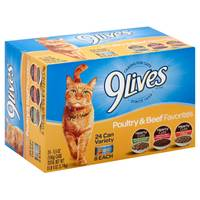 9 Lives Poultry & Beef Favorites Variety Pack from Blain's Farm and Fleet