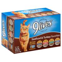 9 Lives Seafood & Turkey Favorites Variety Pack from Blain's Farm and Fleet