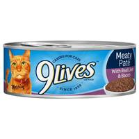 9 Lives Meaty Pate With Real Liver & Bacon Cat Food from Blain's Farm and Fleet