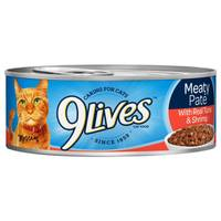 9 Lives Meaty Pate With Real Tuna & Shrimp Cat Food from Blain's Farm and Fleet