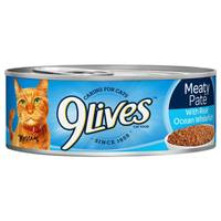 9 Lives Meaty Pate With Real Ocean Whitefish Cat Food from Blain's Farm and Fleet