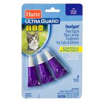 Hartz UltraGuard Onespot Flea Treatment for Cats & Kittens from Blain's Farm and Fleet