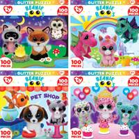MasterPieces Beanie Boo's Glitter Puzzle Assortment from Blain's Farm and Fleet