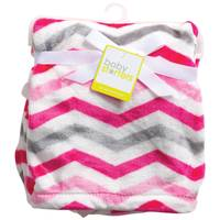 Carter's Pink & Gray Chevron Blanket from Blain's Farm and Fleet