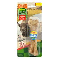 Nylabone Healthy Edibles Wild Large Bison Dog Treat Bones from Blain's Farm and Fleet