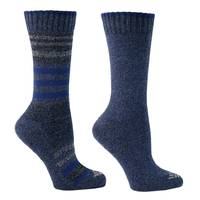Columbia Sportswear Company Misses Black Moisture Control Striped Socks from Blain's Farm and Fleet