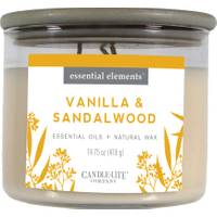 Candle-Lite Vanilla & Sandalwood 3-Wick Candle from Blain's Farm and Fleet