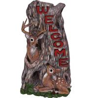 Home View Design Buck & Doe Welcome Sign from Blain's Farm and Fleet