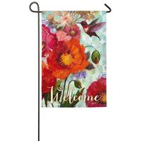 Evergreen Enterprises Hummingbird and Poppies Garden Flag from Blain's Farm and Fleet