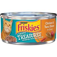 Friskies Tasty Treasures Chicken Tuna & Bacon Cat Food from Blain's Farm and Fleet