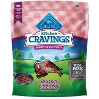 Blue Buffalo Life Protection Kitchen Cravings Pork Savory Sizzlers Homestyle Dog Treats from Blain's Farm and Fleet