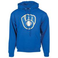 MLB Men's Milwaukee Brewers Tek Patch Pull-Over Hoodie from Blain's Farm and Fleet