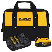 DEWALT Dewalt 20-Volt MAX 5.0Ah Lithium-Ion Battery and Charger Kit with Bag from Blain's Farm and Fleet