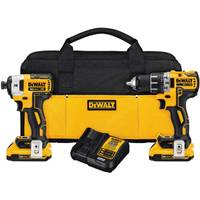 DEWALT 20V MAX XR Brushless Lithium Ion Compact Drill/Driver and Impact Driver Combo Kit from Blain's Farm and Fleet