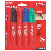 Milwaukee Inkzall Chisel Tip Permanent Markers-4 Pack from Blain's Farm and Fleet