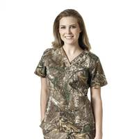 Carhartt Women's Realtree Cross-Flex V-Neck Top from Blain's Farm and Fleet