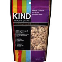Kind Plus Maple Quinoa Clusters with Chia Seeds from Blain's Farm and Fleet