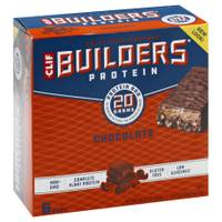 Clif Bar Builder's Chocolate 20g Protein Bars - 6 Count from Blain's Farm and Fleet