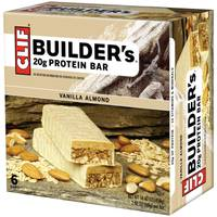 Clif Bar Builder's Vanilla Almond 20g Protein Bars - 6 Count from Blain's Farm and Fleet