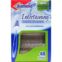 Diamond Entertaining Premium Strength Disposable Spoons from Blain's Farm and Fleet