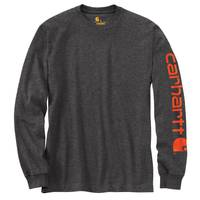Carhartt Big Men's Charcoal Logo Graphic Sleeve Tee from Blain's Farm and Fleet