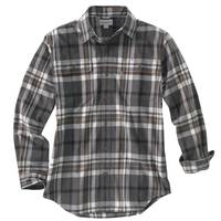 Carhartt Men's Carbon Heather Long Sleeve Hubbard Plaid Shirt from Blain's Farm and Fleet