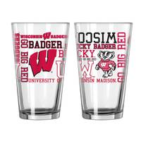 All Star Sports Wisconsin Badgers Spirit Pint Glass from Blain's Farm and Fleet