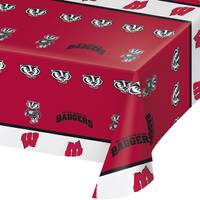 Creative Converting Wisconsin Badgers Banquet Table Cover from Blain's Farm and Fleet