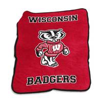 Logo Chairs Wisconsin Badgers Mascot Throw from Blain's Farm and Fleet