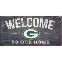 All Star Sports Green Bay Packers Distressed Welcome Sign from Blain's Farm and Fleet