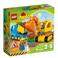 LEGO DUPLO Town Truck & Tracked Excavator Building Kit from Blain's Farm and Fleet