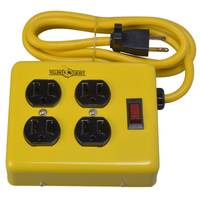 Woods Yellow Jacket 4-Outlet Metal Power Block Adapter from Blain's Farm and Fleet