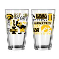 All Star Sports Iowa Hawkeyes Spirit Pint Glass from Blain's Farm and Fleet