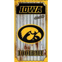 Team Sports America Iowa Hawkeyes Corrugated Metal Wall Art from Blain's Farm and Fleet