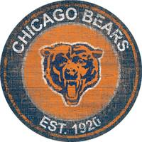 Fan Creations Chicago Bears Heritage Round Logo from Blain's Farm and Fleet