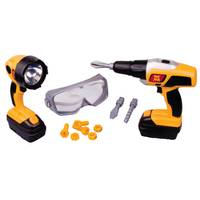 Motormax Toy Factory Poweried Power Drill & Work Light Set from Blain's Farm and Fleet