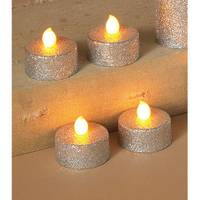 Gerson International Silver Battery Operated Value LED Tea Lights with Glitter from Blain's Farm and Fleet
