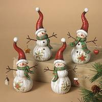 Gerson International Snowman with Hanging Ornaments Figurine Assortment from Blain's Farm and Fleet