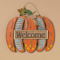 Gerson International Wood Welcome Pumpkin Wall Decor from Blain's Farm and Fleet