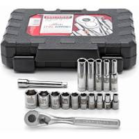 Craftsman 17-Piece Socket Set 1/4 SAE from Blain's Farm and Fleet