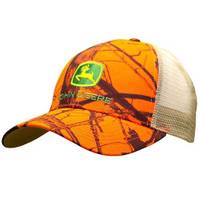 John Deere Men's Orange & Mossy Oak Mesh Back Cap from Blain's Farm and Fleet