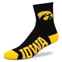 For Bare Feet University of Iowa Team Color Quarter Socks from Blain's Farm and Fleet