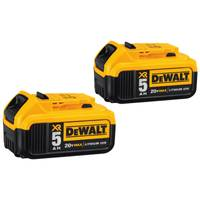 DEWALT 20V MAX 5Ah Lith-Ion Battery - 2 Pack from Blain's Farm and Fleet