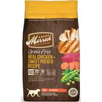 Merrick 25 lb Grain Free Chicken & Sweet Potato Dog Food from Blain's Farm and Fleet