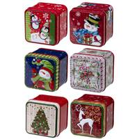 Lindy Bowman, Co. Single Embossed Square Tin Assortment from Blain's Farm and Fleet