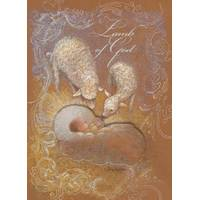 LPG Greetings Baby Jesus & Lambs Embellished Christmas Cards from Blain's Farm and Fleet