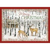 LPG Greetings Deer & Birches Deluxe Glitter Cards from Blain's Farm and Fleet