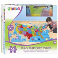 Verdes Jumbo Foam USA Map Floor Puzzle from Blain's Farm and Fleet