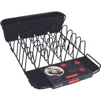 Rubbermaid Black Deluxe Wire Dish Drainer from Blain's Farm and Fleet